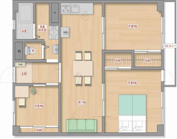 上社南住宅五号棟 109号室のサムネイル